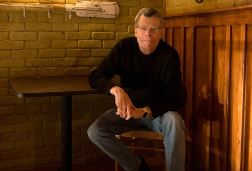 Stephen King on location in North Carolina during the filming of the second season of Under the Dome. CBS